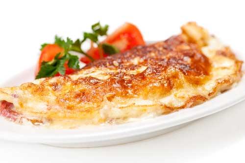 Рецепт: Омлет, фаршированный помидорами