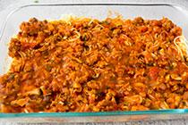Рецепт: Лазанья из спагетти